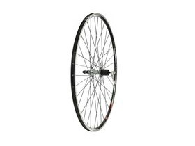 Tru-Build 700C Rear Wheel, Mach1 Omega Black Rim, Shimano 105 Hub 8/9/10/11 Speed Fitting (QR)