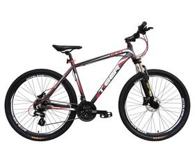 "Tiger HDR Matte Grey & Red 27.5"" Wheel. Hydraulic Brakes!"